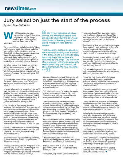 Jury selection just the start of the process