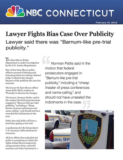 Lawyer Fights Bias Case Over Publicity