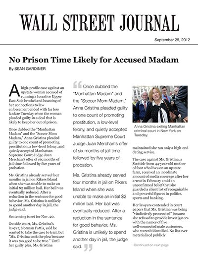 No Prison Time Likely for Accused Madam
