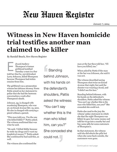 Witness in New Haven homicide trial testifies another man claimed to be killer