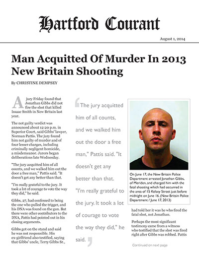 Man Acquitted of Murder in 2013 New Britain Shooting
