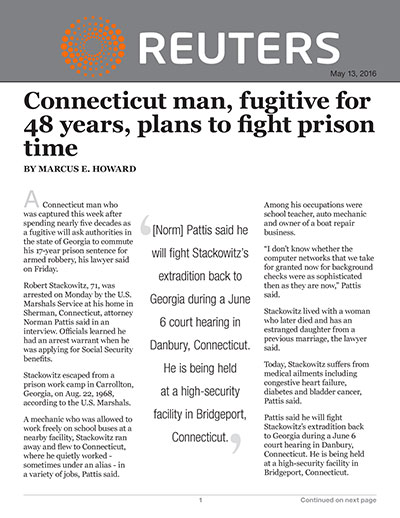 Connecticut man, fugitive for 48 years, plans to fight prison time