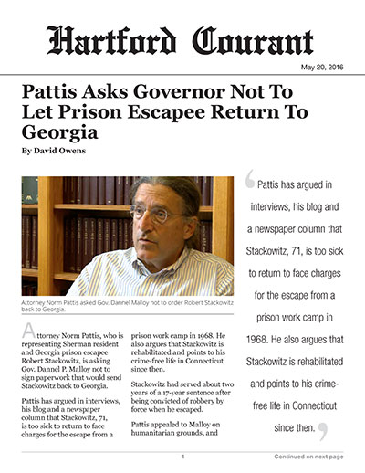 Pattis Asks Governor Not To Let Prison Escapee Return To Georgia