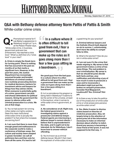 Q&A with Bethany defense attorney Norm Pattis of Pattis & Smith