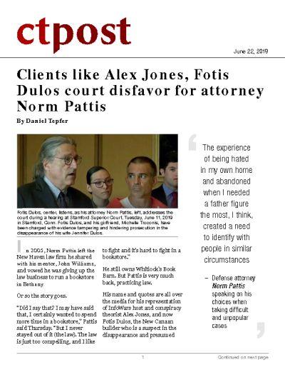 Clients like Alex Jones, Fotis Dulos court disfavor for attorney Norm Pattis