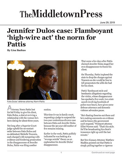 Jennifer Dulos case: Flamboyant 'high-wire act' the norm for Pattis