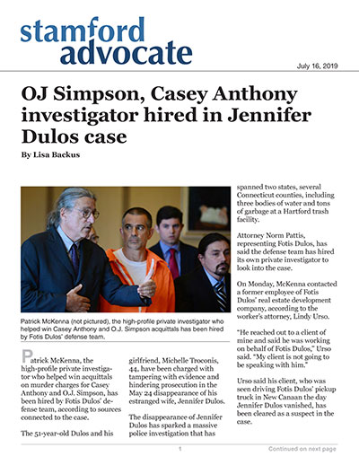 OJ Simpson, Casey Anthony investigator hired in Jennifer Dulos case