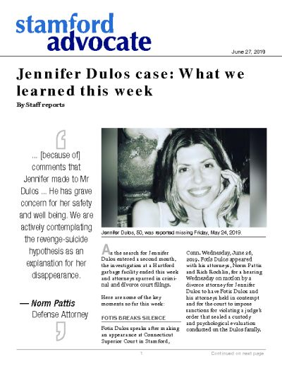 Jennifer Dulos case: What we learned this week