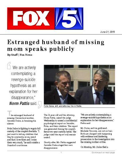 Estranged husband of missing mom speaks publicly