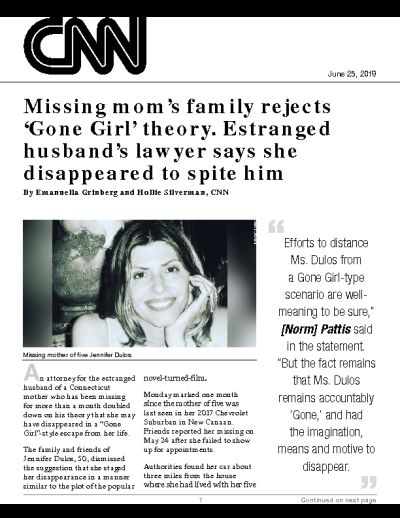 Missing mom's family rejects 'Gone Girl' theory. Estranged husband's lawyer says she disappeared to spite him