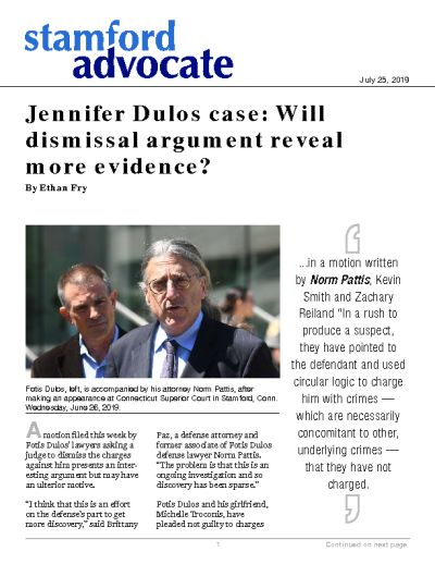 Jennifer Dulos case: Will dismissal argument reveal more evidence?