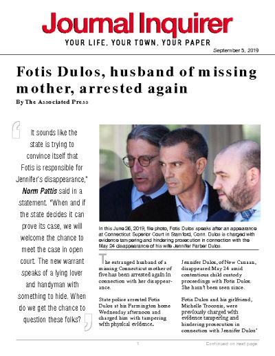 Fotis Dulos, husband of missing mother, arrested again