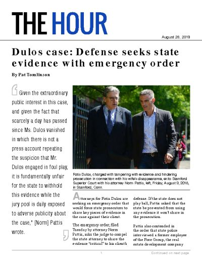 Dulos case: Defense seeks state evidence with emergency order