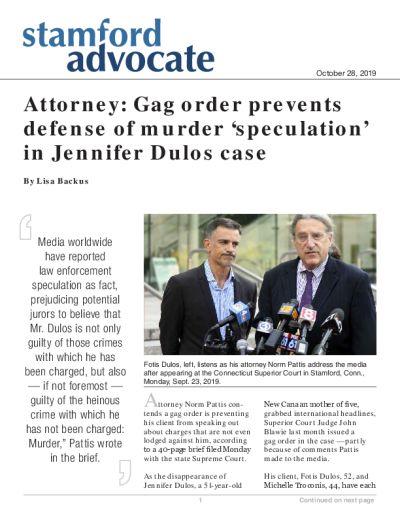 Attorney: Gag order prevents defense of murder 'speculation' in Jennifer Dulos case