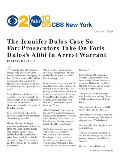The Jennifer Dulos Case So Far: Prosecutors Take On Fotis Dulos's Alibi In Arrest Warrant
