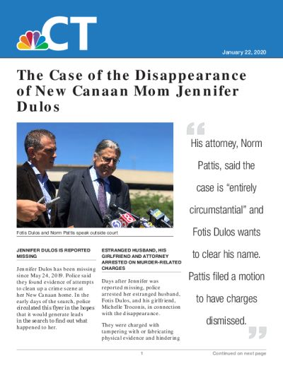 The Case of the Disappearance of New Canaan Mom Jennifer Dulos