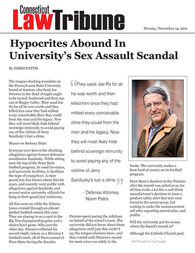 Hypocrites Abound In University's Sex Assault Scandal