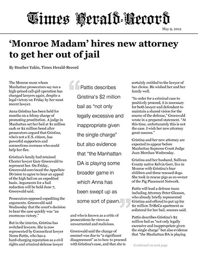 'Monroe Madam' hires new attorney to get her out of jail
