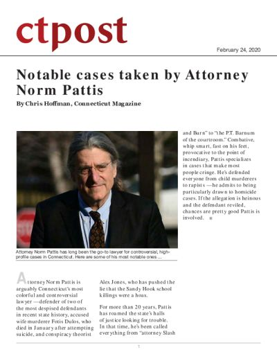 Notable cases taken by Attorney Norm Pattis