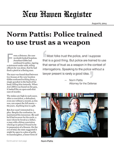 Norm Pattis: Police trained to use trust as a weapon