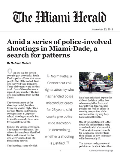 Amid a series of police-involved shootings in Miami-Dade, a search for patterns