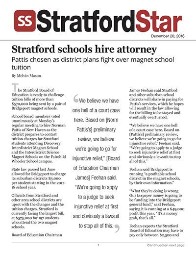 Stratford schools hire attorney