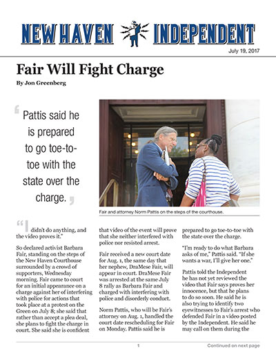 Fair Will Fight Charge