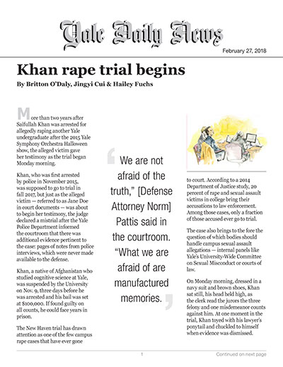 Khan rape trial begins