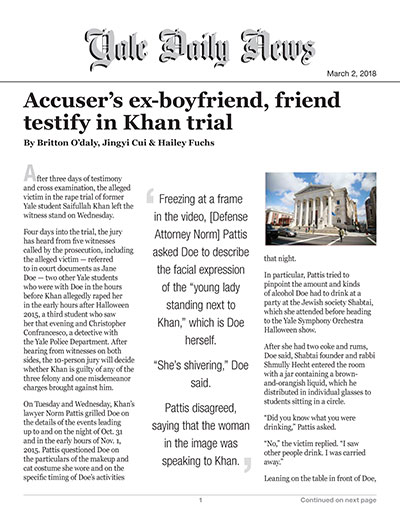 Accuser's ex-boyfriend, friend testify in Khan trial