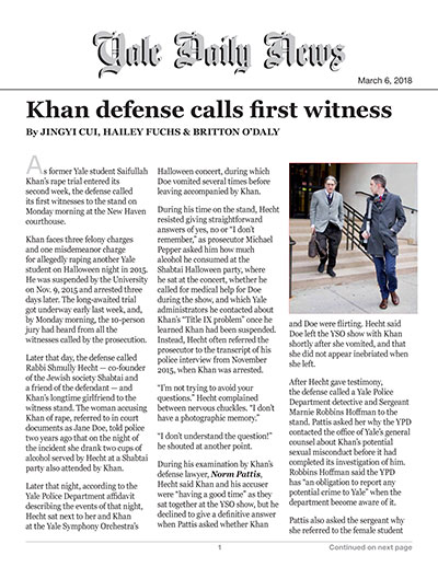 Khan defense calls first witness