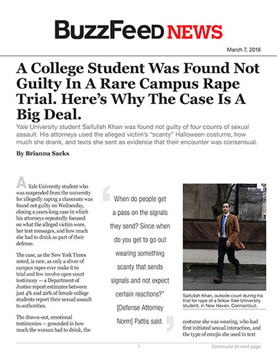 A College Student Was Found Not Guilty In A Rare Campus Rape Trial. Here's Why The Case Is A Big Deal.