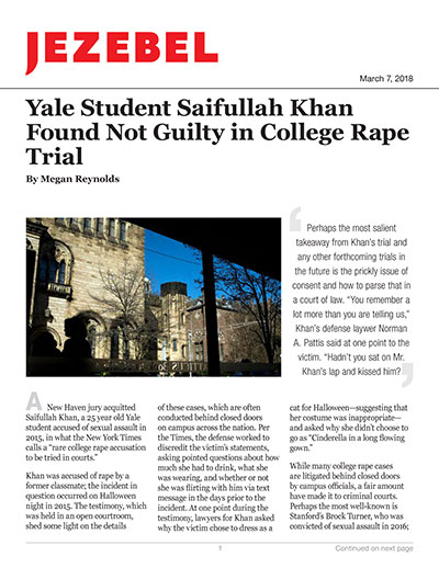 Yale Student Saifullah Khan Found Not Guilty in College Rape Trial
