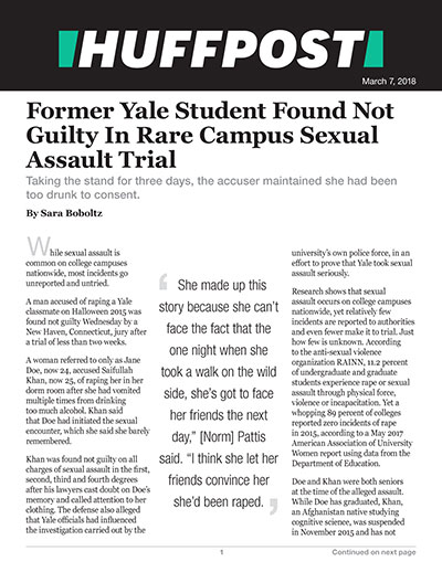 Former Yale Student Found Not Guilty In Rare Campus Sexual Assault Trial