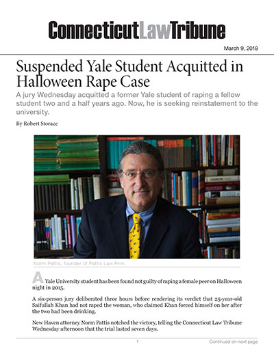 Suspended Yale Student Acquitted in Halloween Rape Case