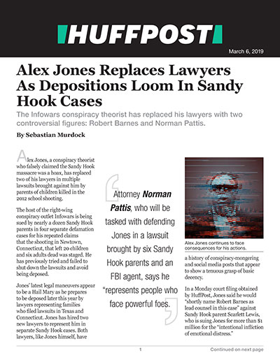Alex Jones Replaces Lawyers As Depositions Loom In Sandy Hook Cases