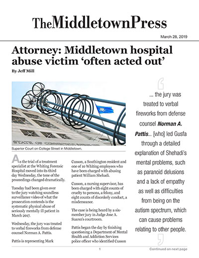 Attorney: Middletown hospital abuse victim 'often acted out'