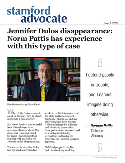 Jennifer Dulos disappearance: Norm Pattis has experience with this type of case