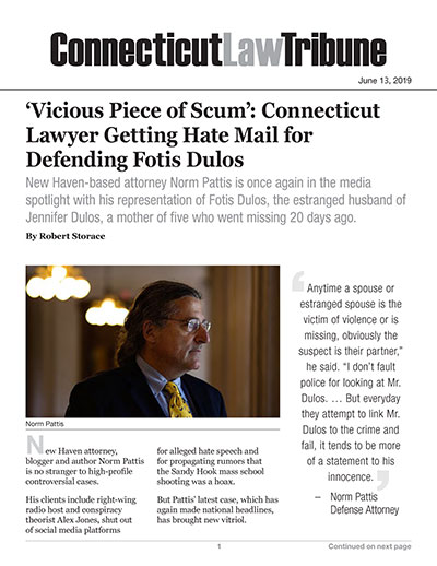 'Vicious Piece of Scum': Connecticut Lawyer Getting Hate Mail for Defending Fotis Dulos