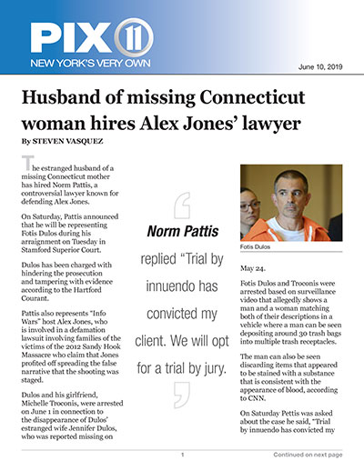 Husband of missing Connecticut woman hires Alex Jones' lawyer