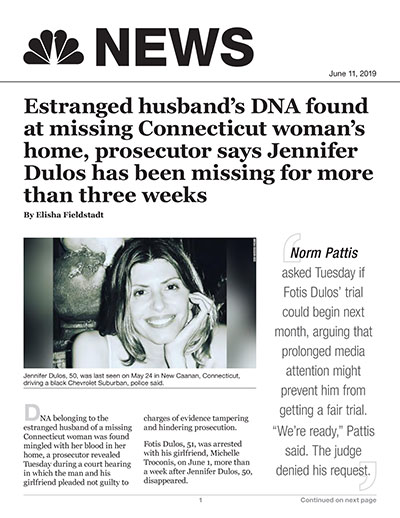 Estranged husband's DNA found at missing Connecticut woman's home, prosecutor says
