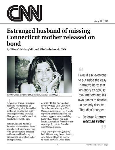 Estranged husband of missing Connecticut mother released on bond