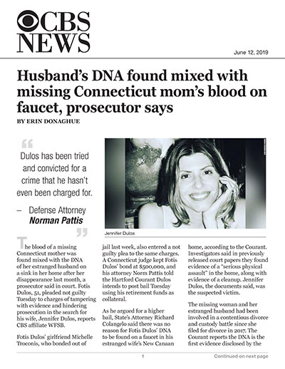 Husband's DNA found mixed with missing Connecticut mom's blood on faucet, prosecutor says