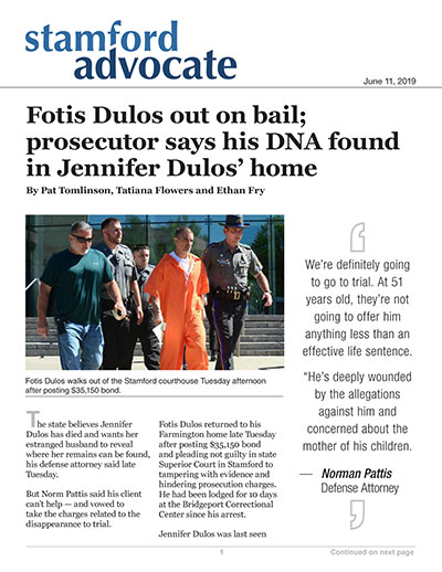 Fotis Dulos out on bail; prosecutor says his DNA found in Jennifer Dulos' home