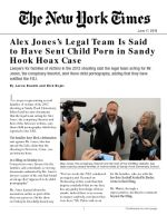 Alex Jones's Legal Team Is Said to Have Sent Child Porn in Sandy Hook Hoax Case