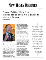Norm Pattis: How Sen. Blumenthal uses Alex Jones to silence debate