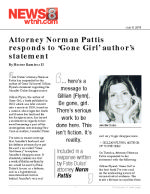 Attorney Norman Pattis responds to 'Gone Girl' author's statement