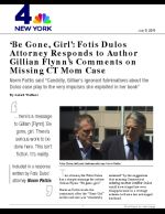'Be Gone, Girl': Fotis Dulos Attorney Responds to Author Gillian Flynn's Comments on Missing CT Mom Case
