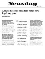 Accused Monroe madam hires new legal top gun