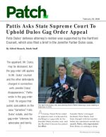 Pattis Asks State Supreme Court To Uphold Dulos Gag Order Appeal