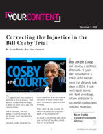 Correcting the Injustice in the Bill Cosby Trial